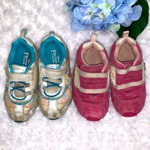 Little Girls Size 8 Frozen & Pediped Play Shoes
